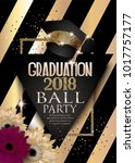 graduation 2018 party... | Shutterstock .eps vector #1017757177