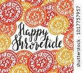 hand writen lettering happy...   Shutterstock .eps vector #1017757957
