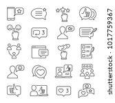 feedback line icon set.... | Shutterstock .eps vector #1017759367
