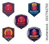 rugby logo  american logo sport | Shutterstock .eps vector #1017762703