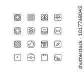 square outline icons | Shutterstock .eps vector #1017768043