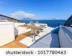 luxury motor boat table setting ... | Shutterstock . vector #1017780463