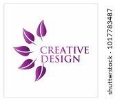 leaf vector logo design template | Shutterstock .eps vector #1017783487
