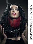 Mysterious Woman In Black Hood...