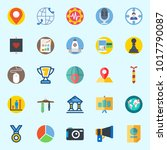 icons about digital marketing... | Shutterstock .eps vector #1017790087