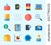 icons about business with... | Shutterstock .eps vector #1017790153