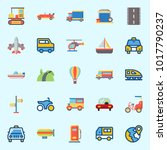 icons about transportation with ... | Shutterstock .eps vector #1017790237