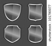 transparent glass shields ... | Shutterstock .eps vector #101780077