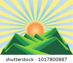 background with mountain...   Shutterstock .eps vector #1017800887