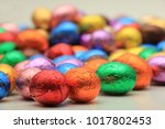 big pile of colorful wrapped... | Shutterstock . vector #1017802453