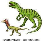 dinosaurs tyrannosaurus rex ... | Shutterstock .eps vector #1017803383