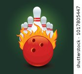 ball and bowling pin for a...   Shutterstock .eps vector #1017805447