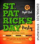 saint patrick's day party... | Shutterstock .eps vector #1017806053