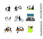 lover soccer set. man and... | Shutterstock . vector #1017814537