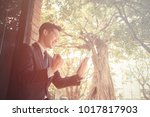 young asian business man have a ...   Shutterstock . vector #1017817903