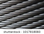 new steel cable  steel wire or... | Shutterstock . vector #1017818083