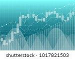 forex financial data graph... | Shutterstock .eps vector #1017821503