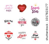 special valentines words... | Shutterstock .eps vector #1017823177