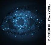technology eye illustration | Shutterstock .eps vector #1017830857