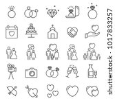 people icons line vector .... | Shutterstock .eps vector #1017833257
