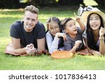 happy time for parent with... | Shutterstock . vector #1017836413