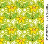 abstract floral pattern  vector ...   Shutterstock .eps vector #1017838867