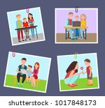 set of colorful banners with... | Shutterstock .eps vector #1017848173