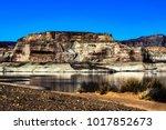 lone rock beach lake powell in... | Shutterstock . vector #1017852673