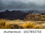 lone rock beach lake powell in... | Shutterstock . vector #1017852733