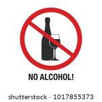 no alcohol sign vector.  | Shutterstock .eps vector #1017855373