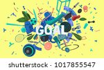 colorful positive and trendy... | Shutterstock . vector #1017855547