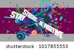 stay strong be positive... | Shutterstock . vector #1017855553