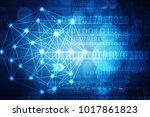 2d illustration technology...   Shutterstock . vector #1017861823