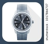 wristwatch simple icon in flat... | Shutterstock .eps vector #1017866737