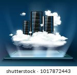 cloud computing. server for... | Shutterstock . vector #1017872443