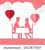 couples dating in valentine's... | Shutterstock .eps vector #1017877507