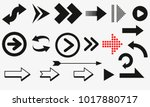 arrows vector collection black. Different black Arrows icons,vector set. Abstract elements for business infographic. Up and down trend. | Shutterstock vector #1017880717
