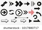 arrows vector collection black. ... | Shutterstock .eps vector #1017880717