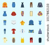 icons about women clothes with... | Shutterstock .eps vector #1017882133