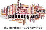 culinary art word cloud concept....   Shutterstock .eps vector #1017894493