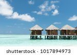 water bungalows on the maldives | Shutterstock . vector #1017894973