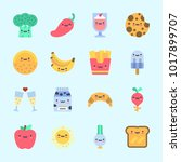 icons about food with radish ... | Shutterstock .eps vector #1017899707