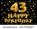 vector happy birthday 43th... | Shutterstock .eps vector #1017903697