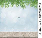 wooden terrace or wooden deck...   Shutterstock .eps vector #1017904783