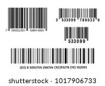 realistic bar code icon. a... | Shutterstock .eps vector #1017906733