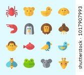 icons about animals with lion ... | Shutterstock .eps vector #1017907993