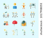 icons about human with dialogue ... | Shutterstock .eps vector #1017908053