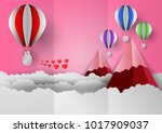 valentines day concept with... | Shutterstock .eps vector #1017909037