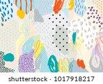 creative doodle art header with ... | Shutterstock .eps vector #1017918217