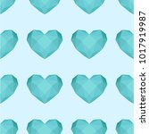 vector pattern with turquoise... | Shutterstock .eps vector #1017919987